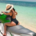 Mature escorts in reading girl is sitting on top of a water bike
